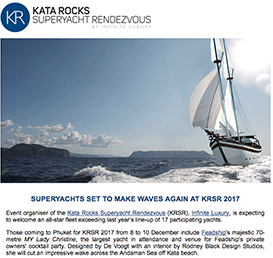 Superyachts set to make waves again at KRSR 2017