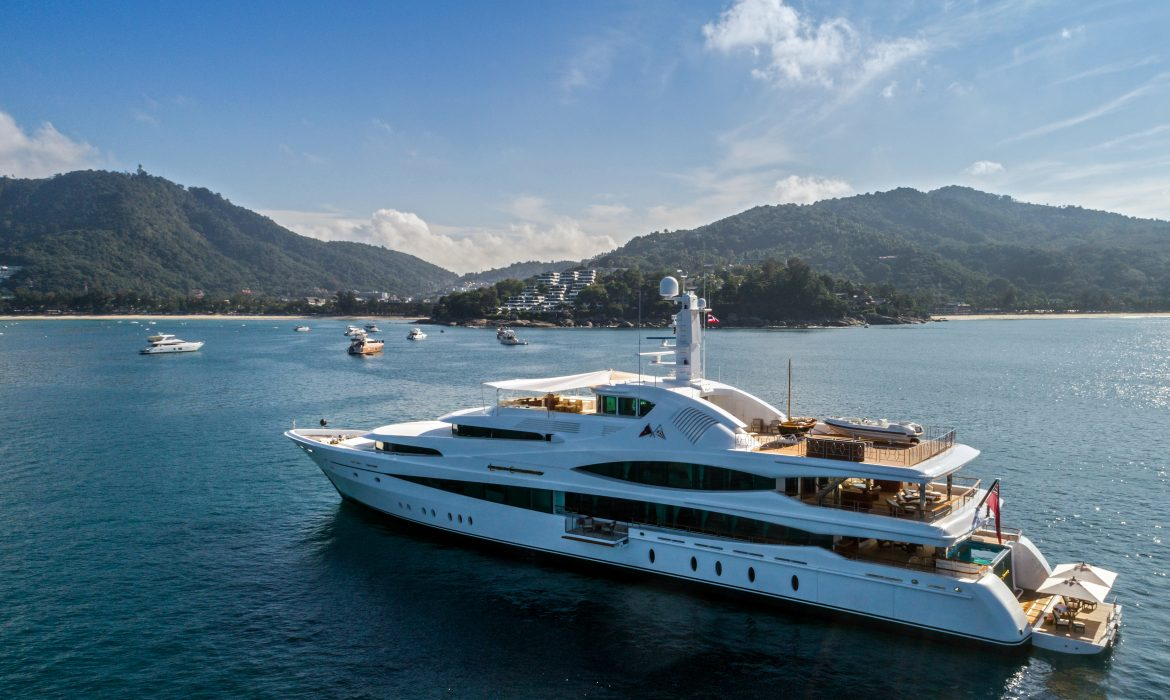 More than 20 yachts assembled for this year's rendezvous, exceeding last year's attendance. Top yachts included Feadship's 70-metre MY Lady Christine.