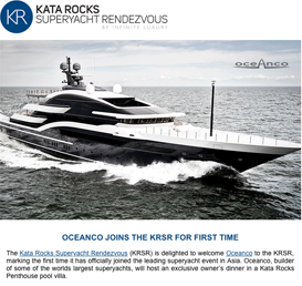 Oceanco joins the Kata Rocks Superyacht Rendezvous