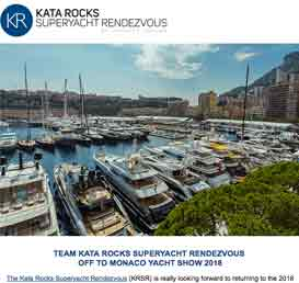 Team Kata Rocks Superyacht Rendezvous off to Monaco Yacht Show 2018