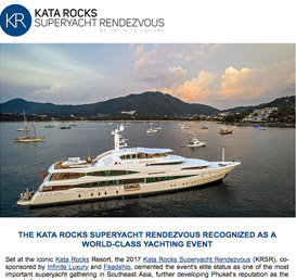 The Kata Rocks Superyacht Rendezvous recognized as a world-class yachting event