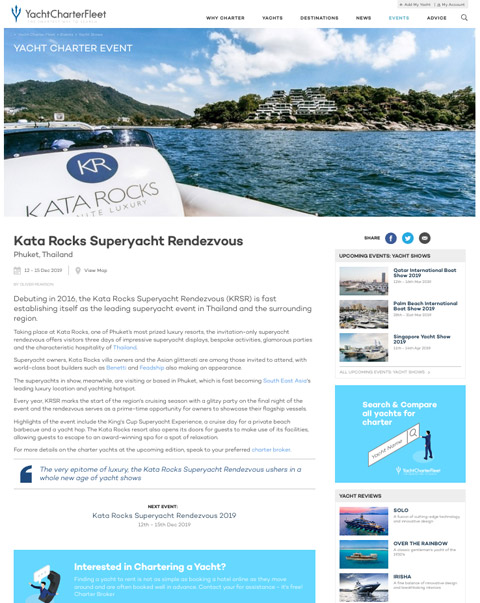 Yacht Charter Fleet - March 2019