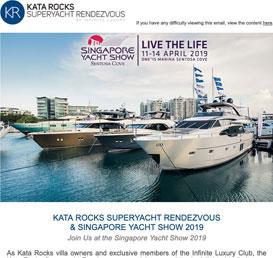 Kata Rocks Superyacht Rendezvous & Singapore Yacht Show 2019