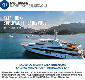 Inaugural Charity Gala to Headline Kata Rocks Superyacht Rendezvous 2019
