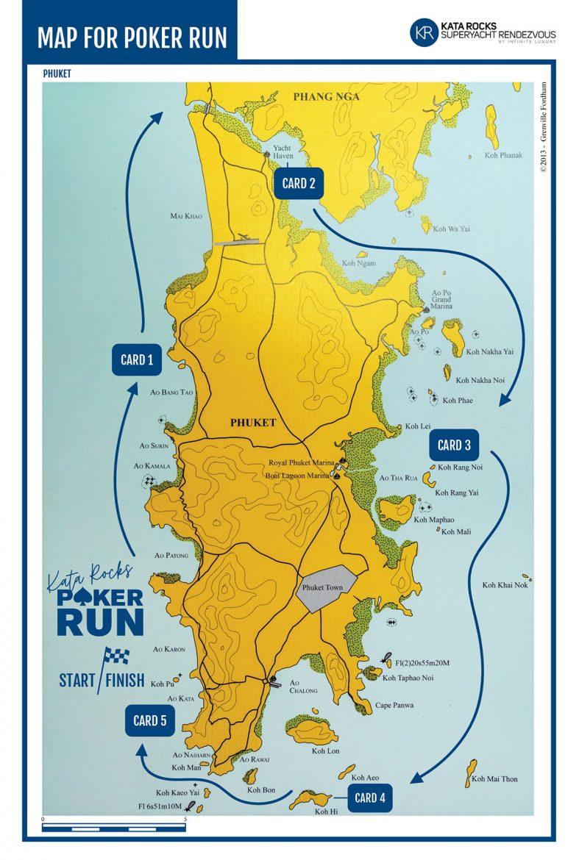 Poker Run route map